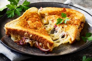 Grilled Cheese Toast with Stretch