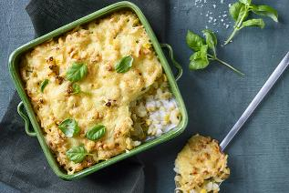 Cheese and sweetcorn pasta bake