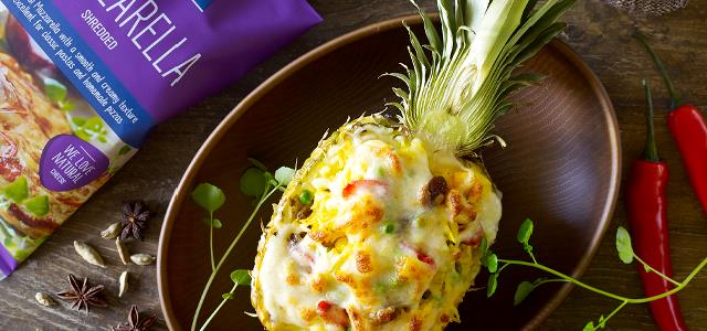 Cheese Baked Pineapple Fried Rice