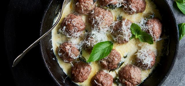 Italian Meatballs with Cream