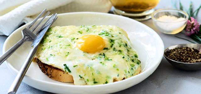 Cheesy Fried Eggs