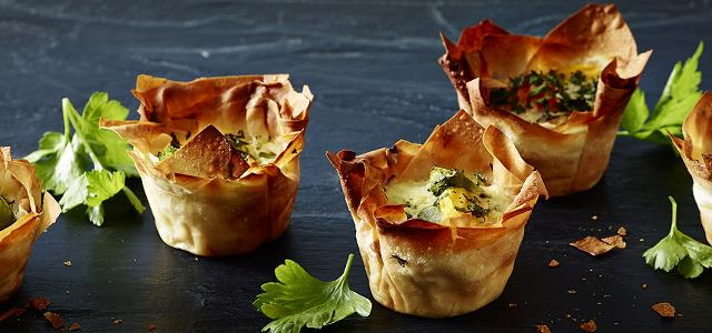Mixed vegetable pies